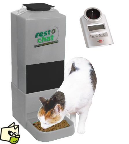 distributeur de croquettes programmable chat