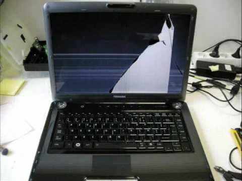 ecran pc portable cassé de l'interieur