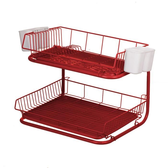 egouttoir vaisselle rouge