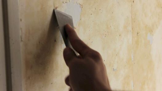 enlever de la colle sur un mur