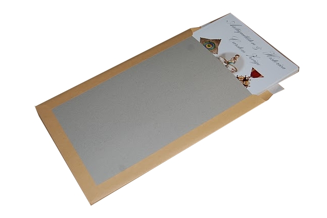 enveloppe dos cartonné