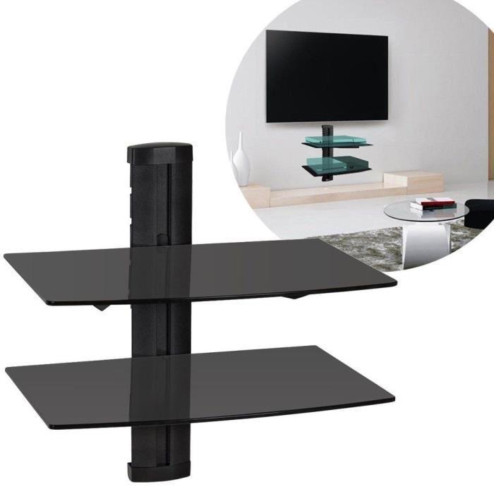 etagere murale pour decodeur tv