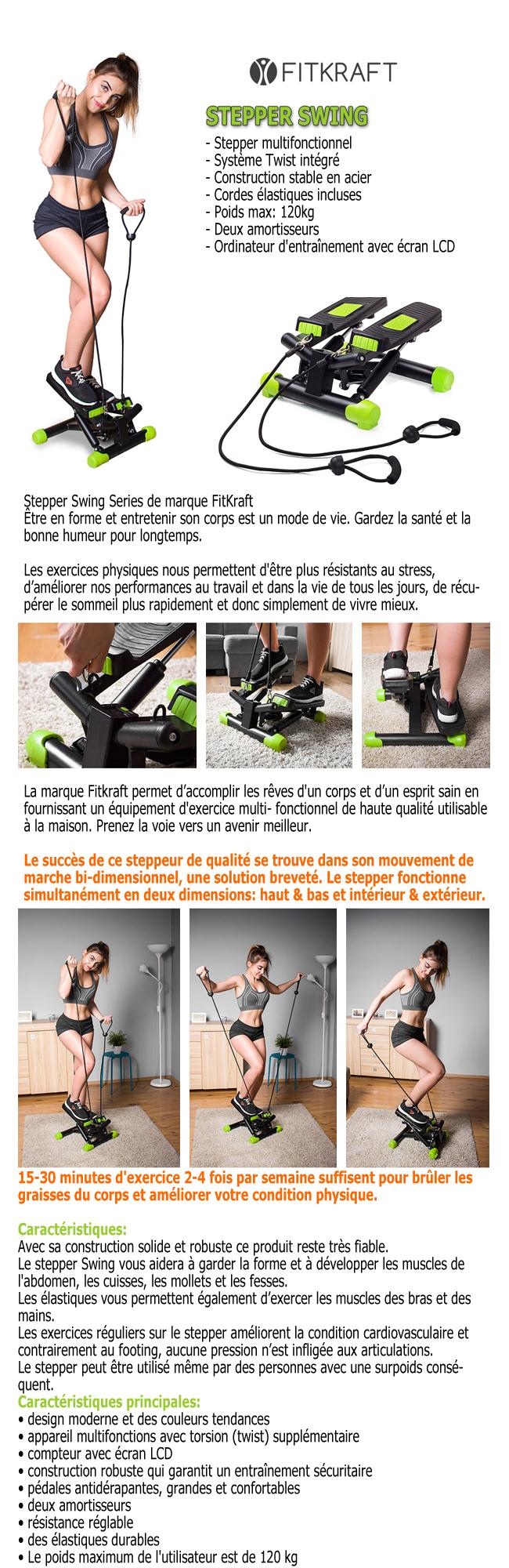 exercice stepper avec elastique
