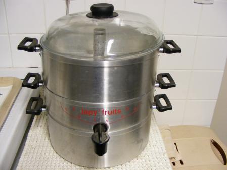 extracteur de jus vapeur avec robinet