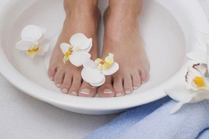 faire un bain de pied