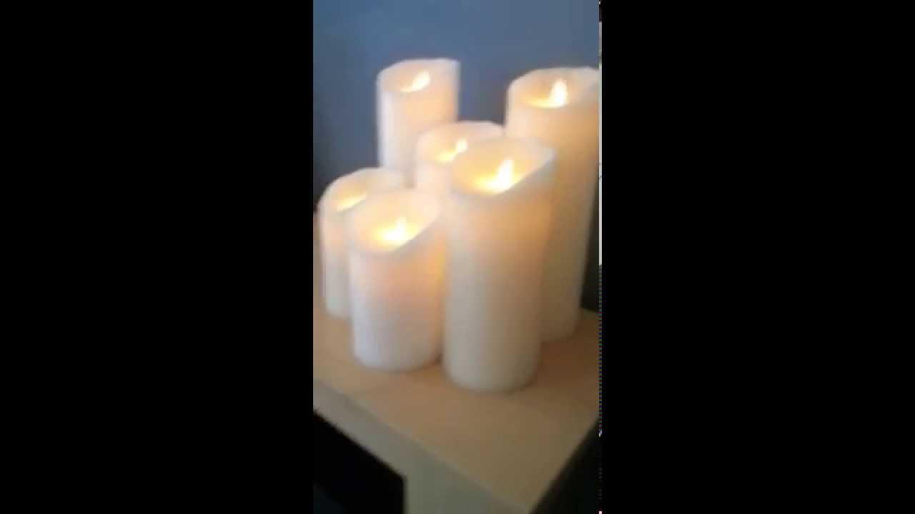fausse bougie avec flamme vacillante