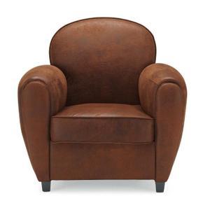 fauteuil marron pas cher