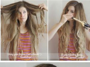 fer à boucler cheveux longs