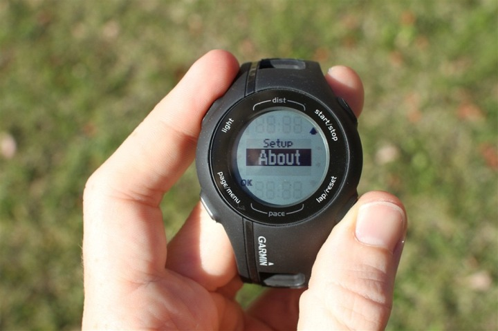 garmin forerunner 210 test