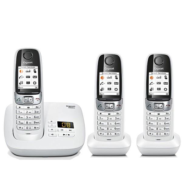 gigaset c620a trio blanc téléphone sans fil répondeur