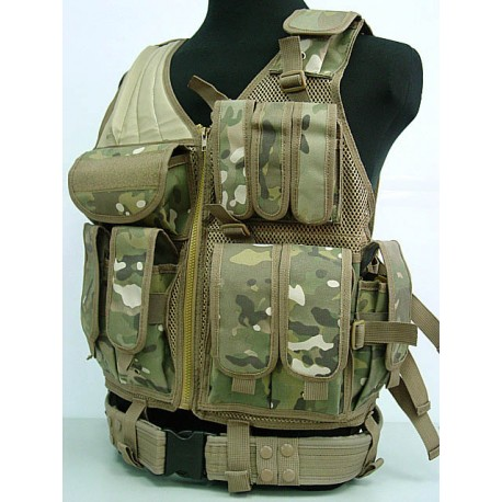 gilet tactique airsoft multicam