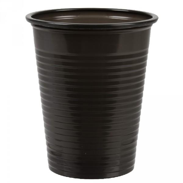 gobelet plastique noir