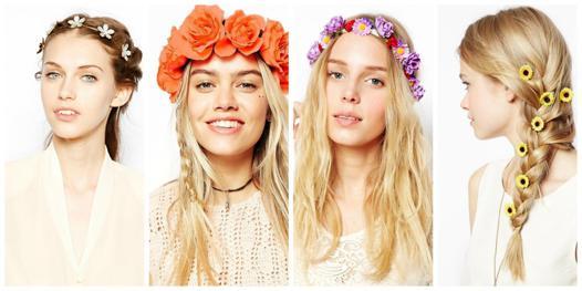 guirlande fleur cheveux