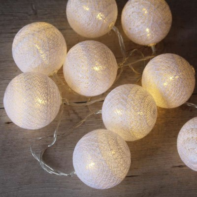 guirlande lumineuse boule coton