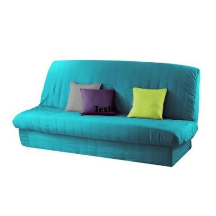 housse clic clac bleu turquoise