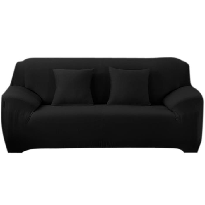 housse de canapé noir