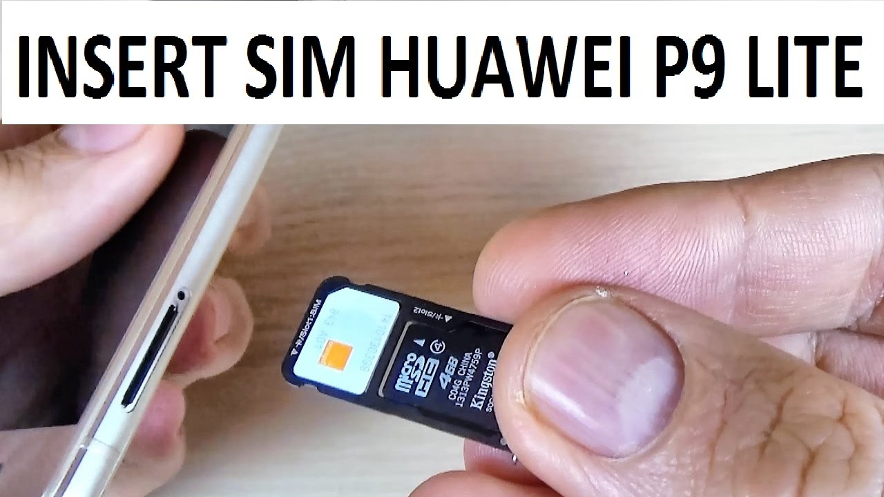 huawei p9 carte sd