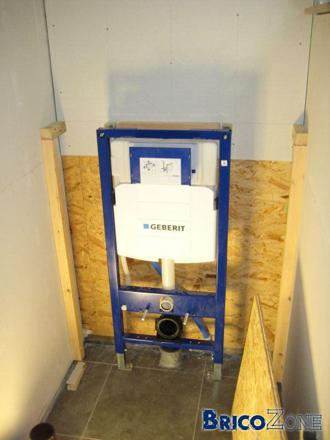 installation wc suspendu geberit