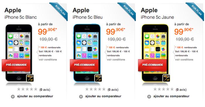 iphone 5c forfait