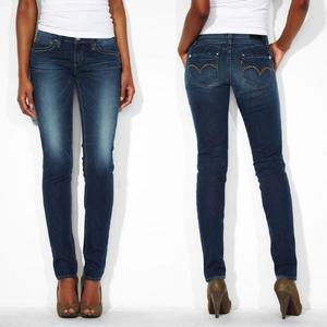 jeans levis straight demi curve femme
