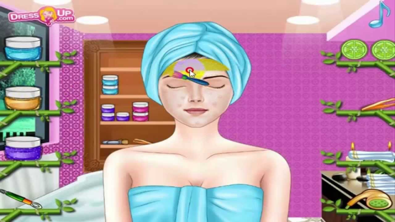 jeux de maquillage et habillage et coiffure