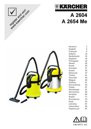 karcher a2654 accessoires