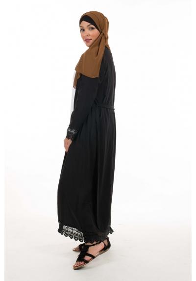 kimono long noir