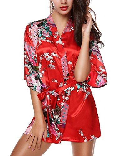 kimono soie femme court
