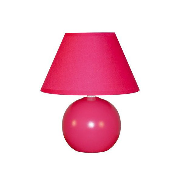 lampe de chevet rose fushia