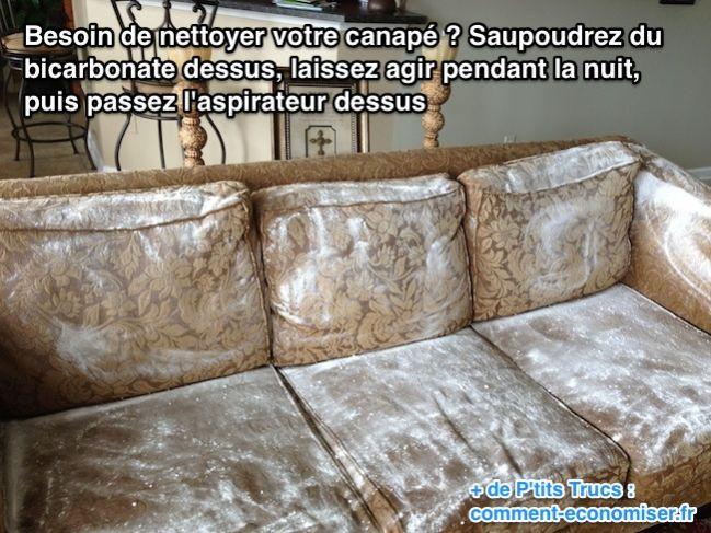 laver un canapé en tissu