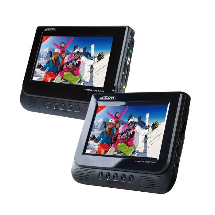 lecteur dvd portable 2 ecrans 9 pouces