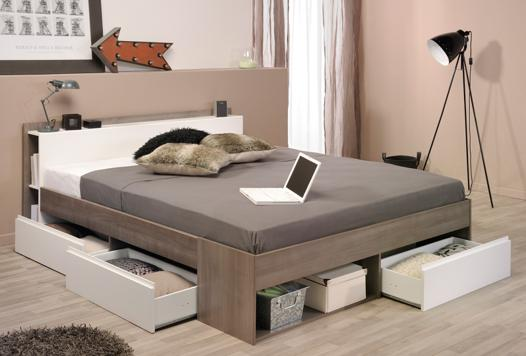 lit adulte avec rangements