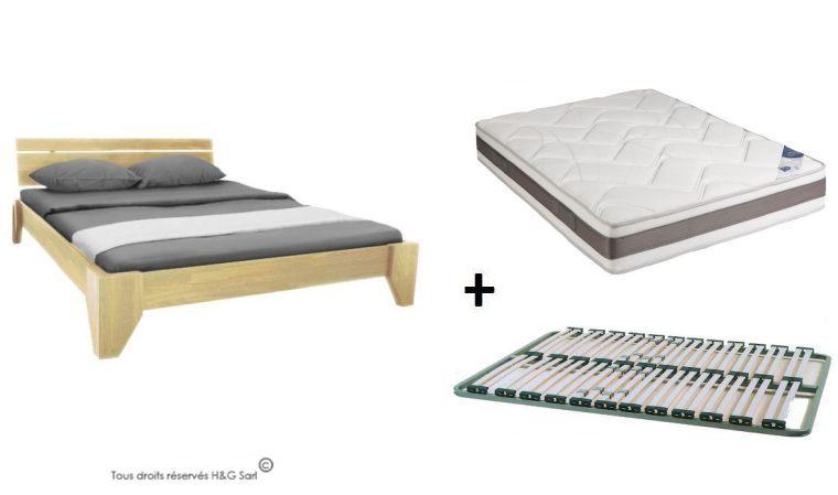 lit avec matelas et sommier pas cher