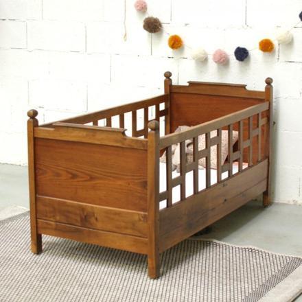 lit bébé ancien bois