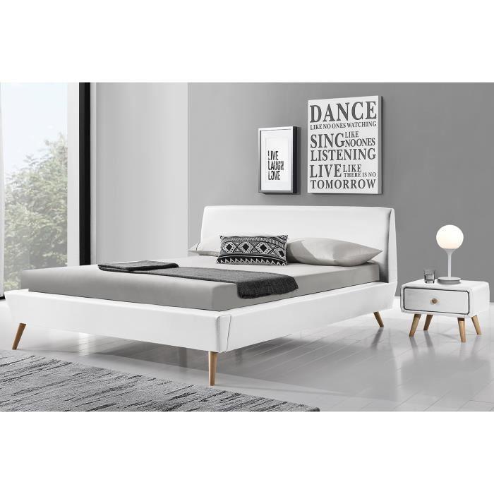 lit blanc 140x190