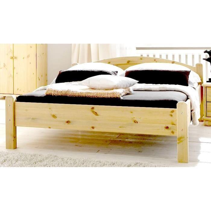 lit en pin massif 2 personnes