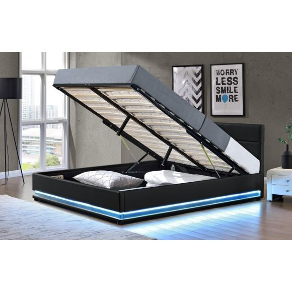lit led coffre