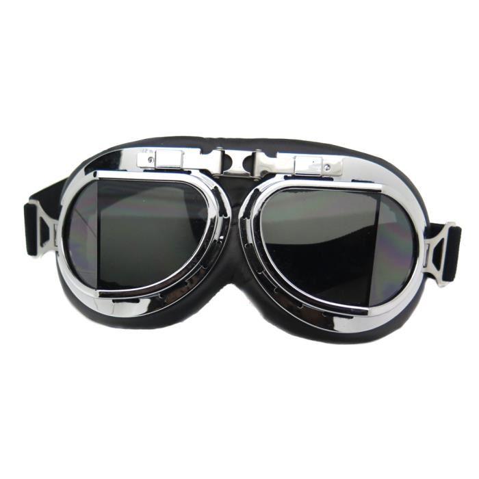 lunette aviateur retro moto