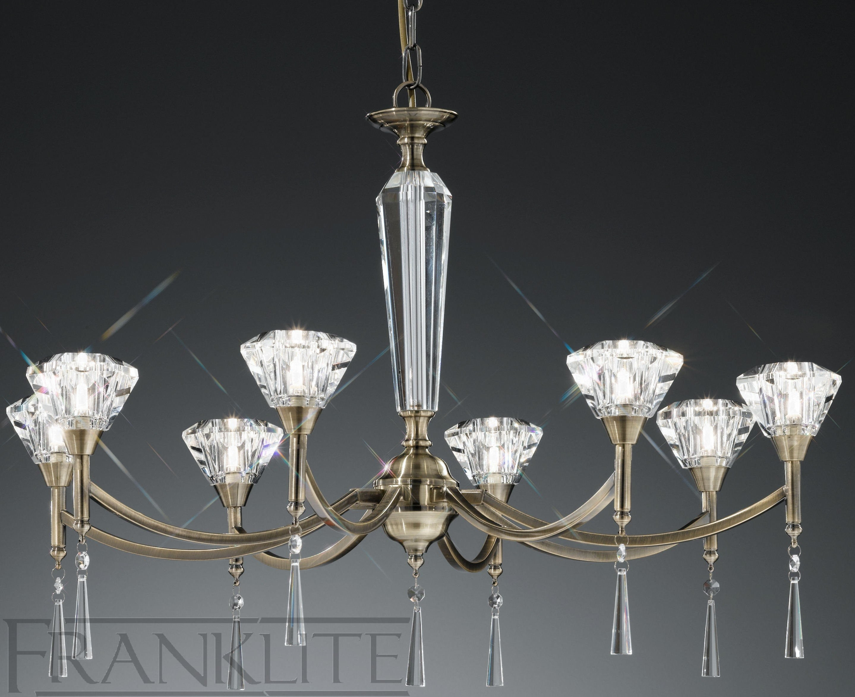 lustre cristal moderne suspension