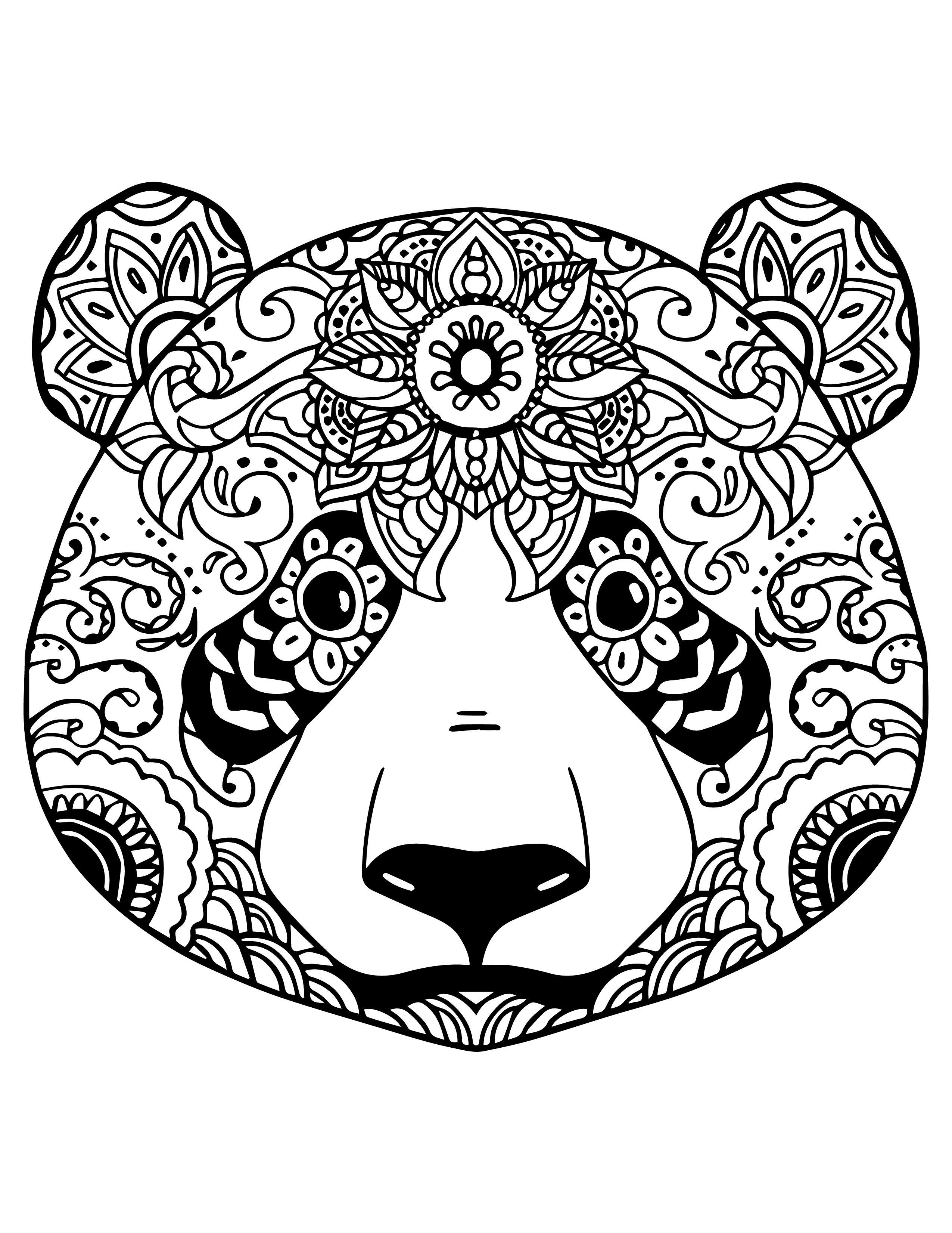 mandala animaux panda