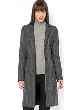manteau gris anthracite femme