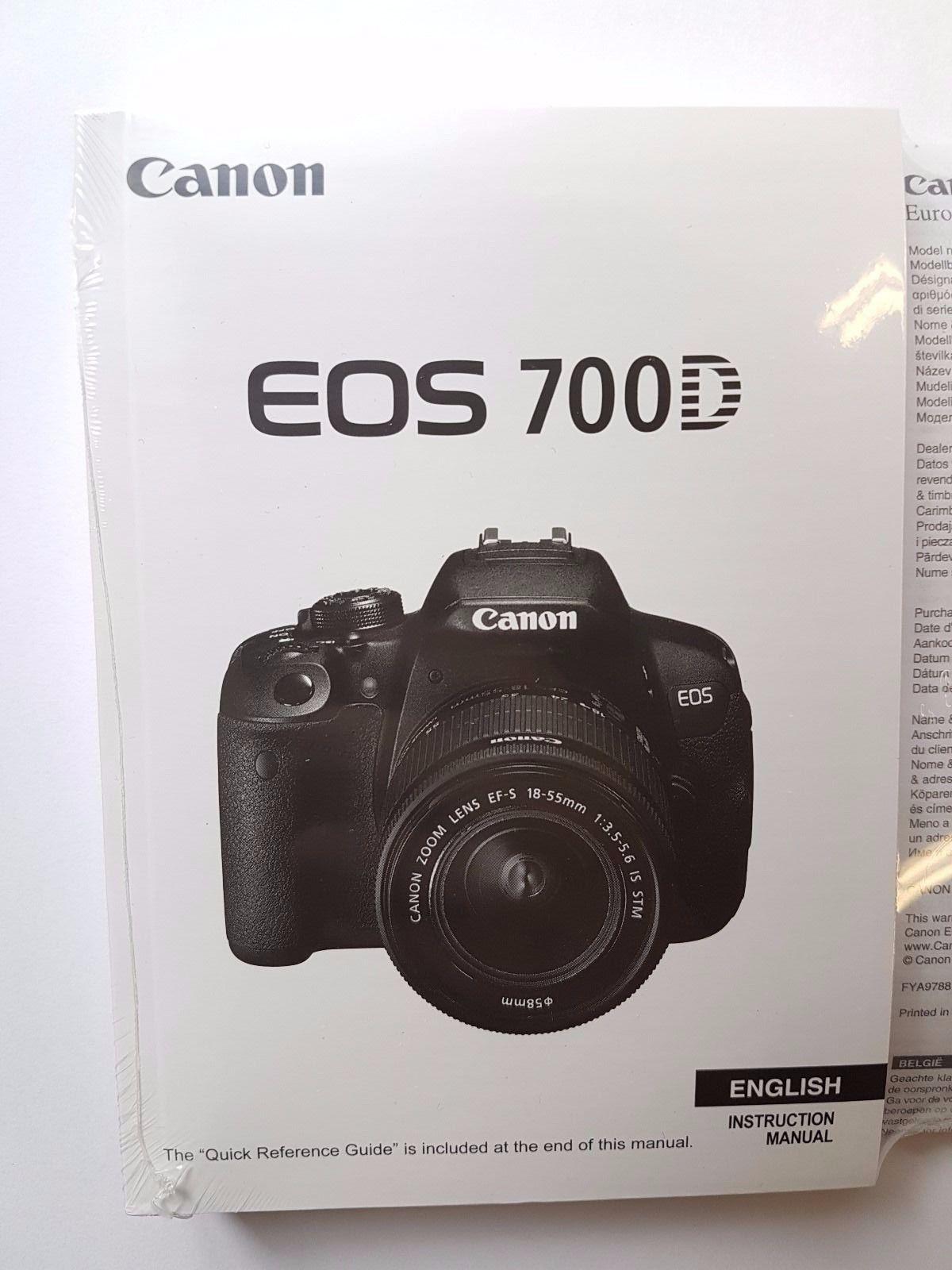 manuel canon eos 700d