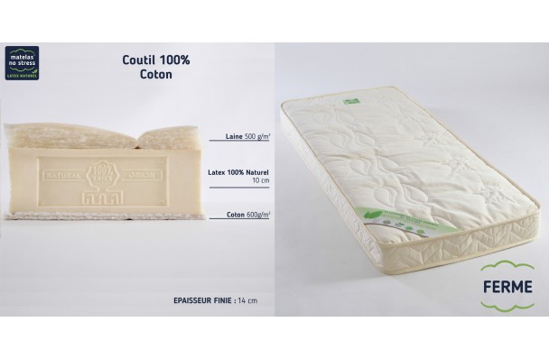 matelas latex 100 naturel bio