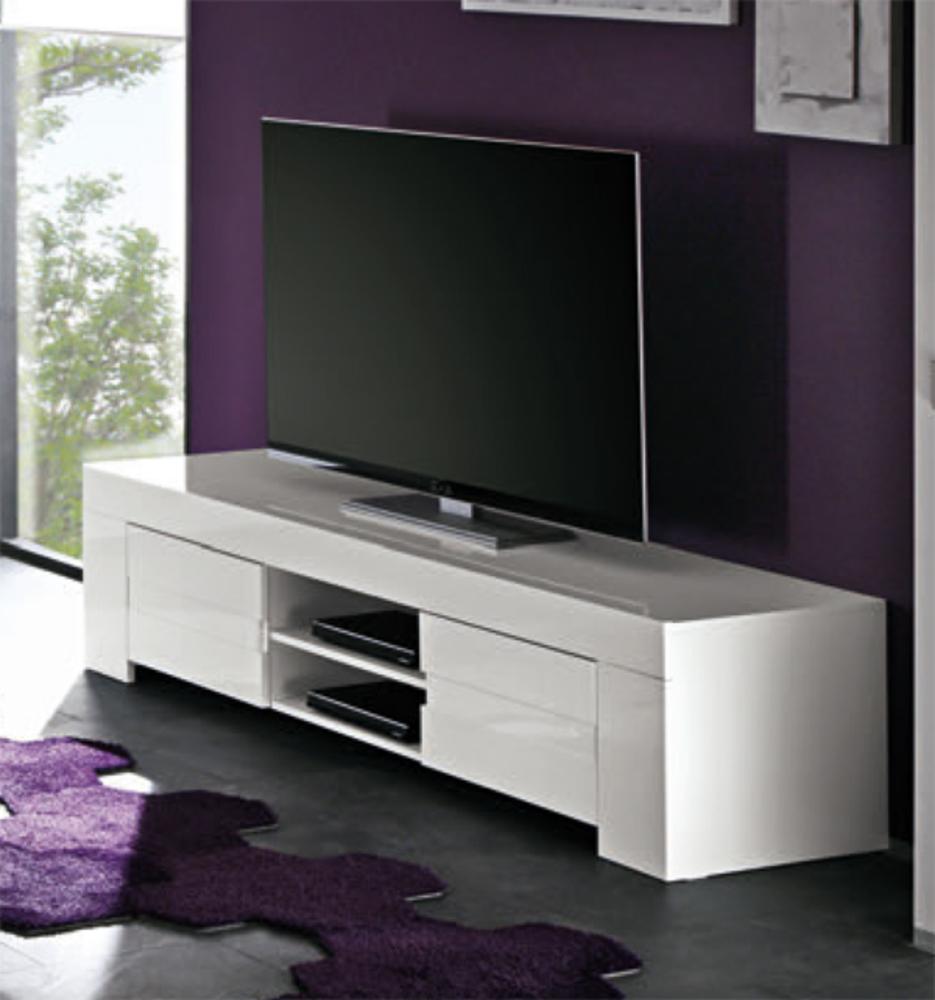 meuble blanc laqué tv