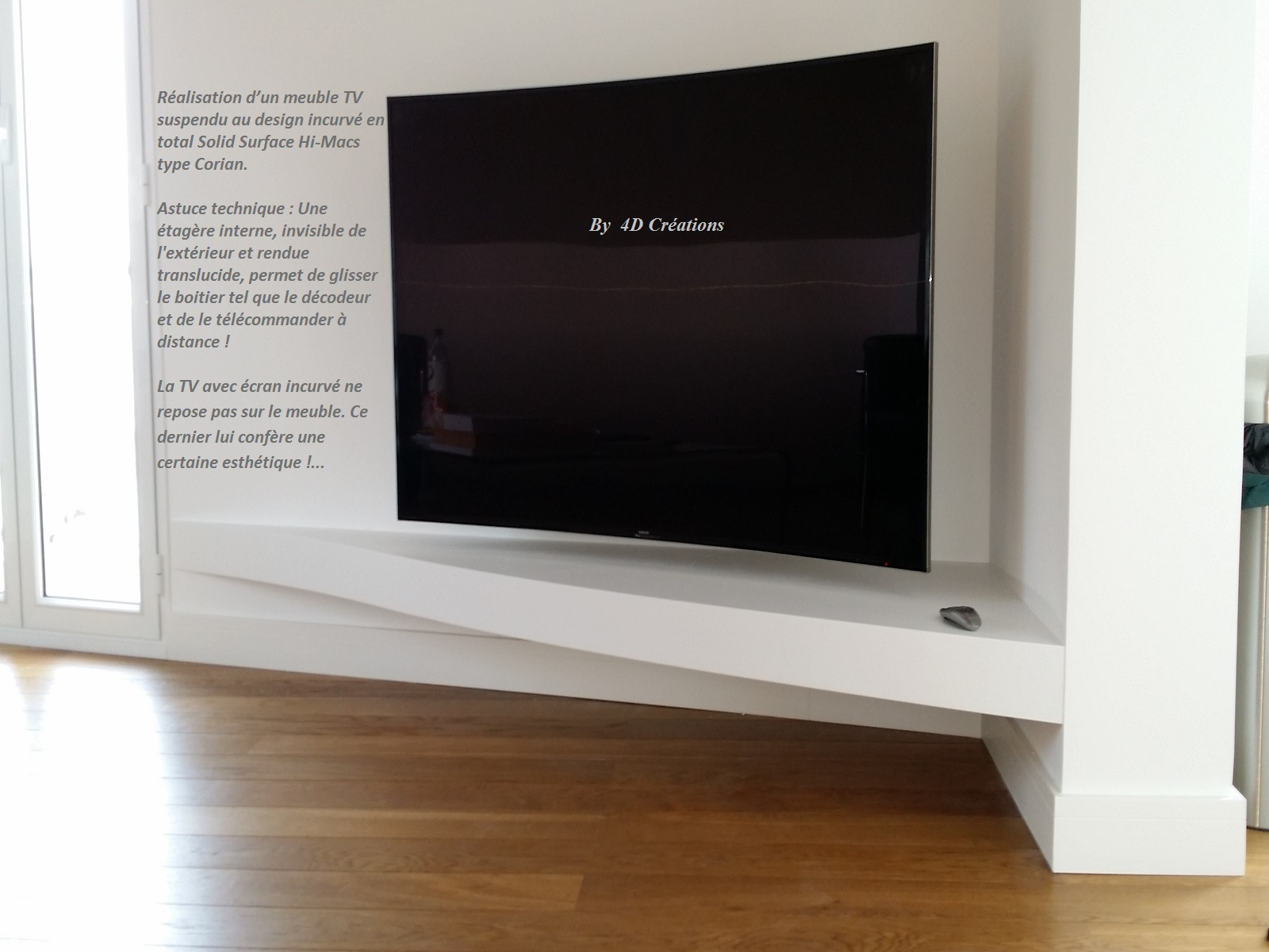 meuble pour tv incurvée