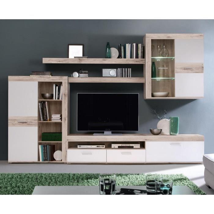 meuble tv mural bois