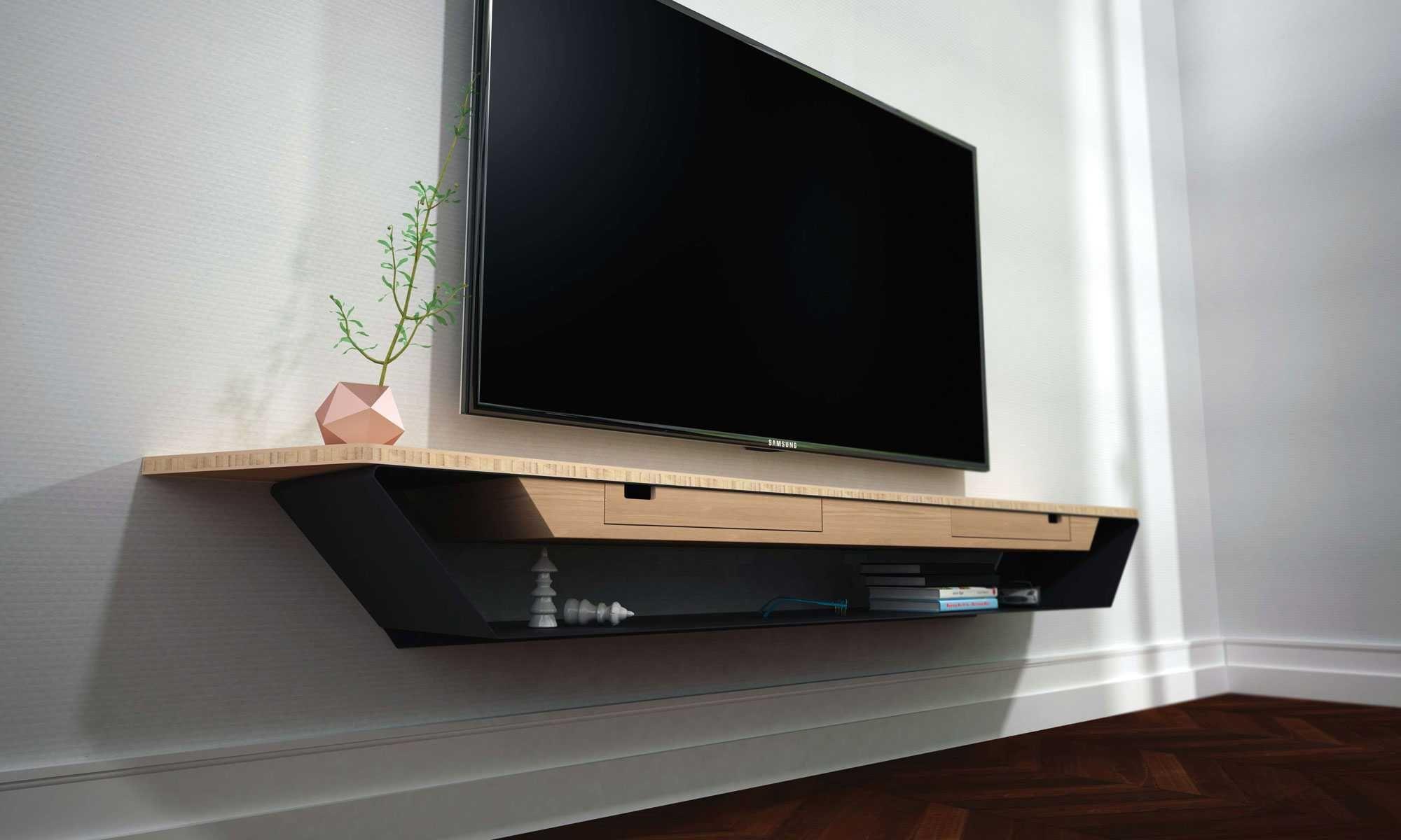 meuble tv mural suspendu