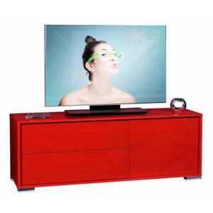 meuble tv rouge but