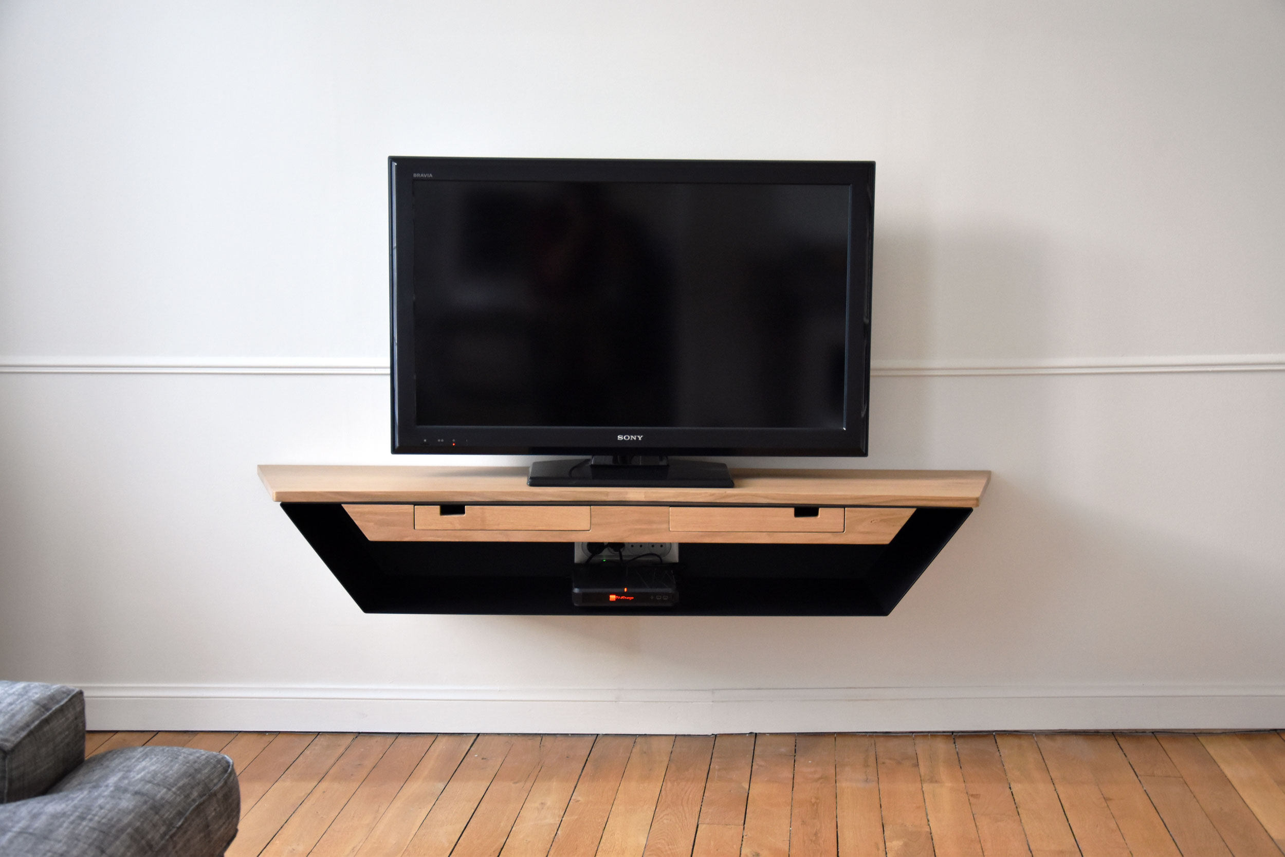 meuble tv suspendu design