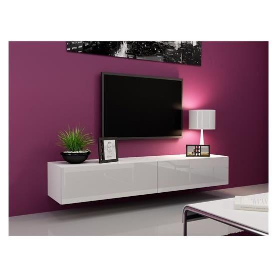 meuble tv suspendu pas cher